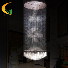 The fashion of modern engineering crystal lamp hanging lamp double staircase crystal round lamp can be customized(China (Mainland))