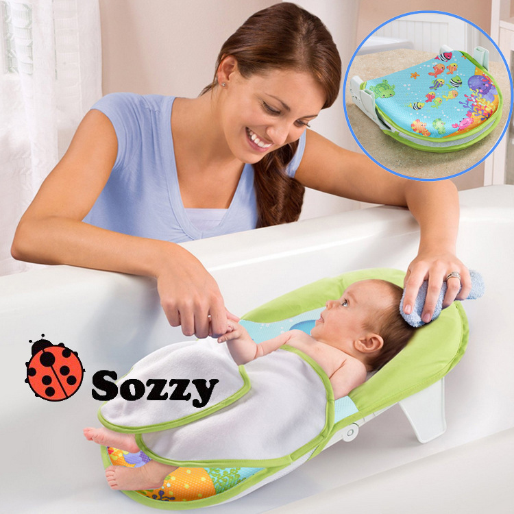 baby bath seat support bath tub bathtub baby bath tub sling safety bath sling bather. Black Bedroom Furniture Sets. Home Design Ideas