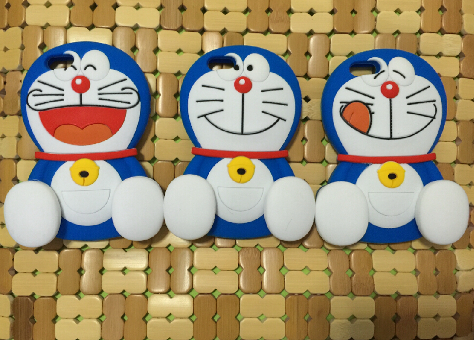 2015 3D Cartoon Doraemon Soft Silicon Phone Back Skin Case Cover for Apple iPhone 5 5s(China (Mainland))