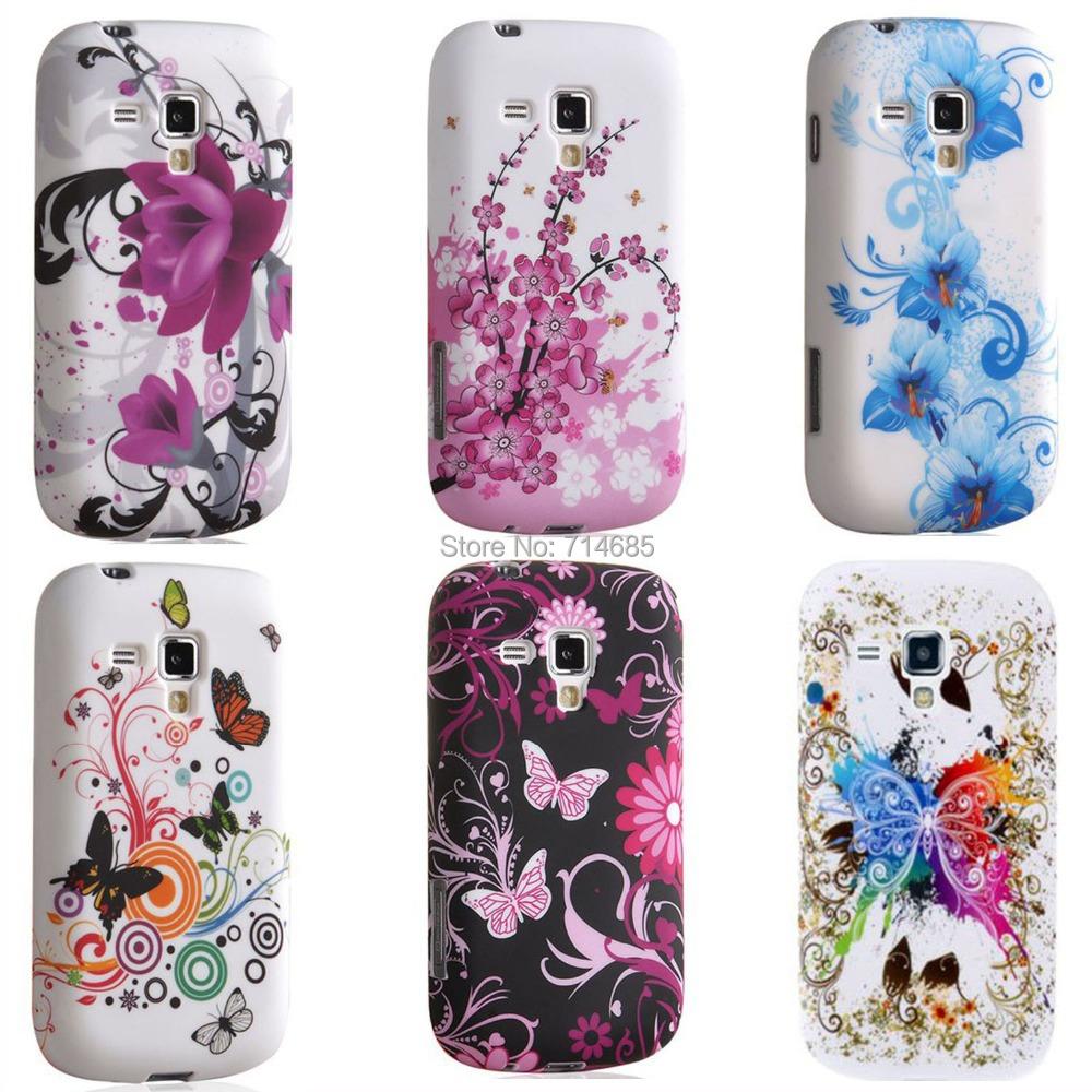 "New Fashion TPU Gel Phone Case Cover for Samsung Galaxy S Duos 2 Trend Plus Dual SIM Duoz La Fleur S7560 S7562 S7580 S7582 4""(China (Mainland))"
