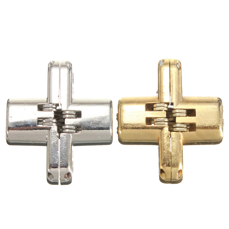 New Arrival High Quality 2pcs/Set Hidden Stainless Steel Invisible Concealed Cross Door Hinge for Jewelry Box Silver/Gold(China (Mainland))