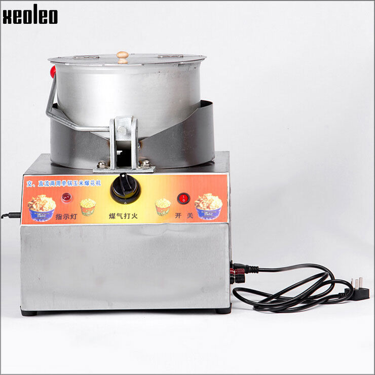 Xeoleo Commercial Popcorn Maker Gas popcorn machine Single pots Oil popcorn maker machine use DC electric<br><br>Aliexpress