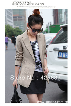 Free Shipping  Korean version of the small suit wholesale career casual suit jacket women