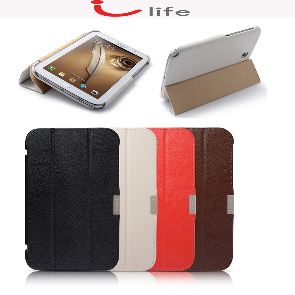 iCarer Original Genuine Cowhide Leather Case Back Stand Tablet Cover For Samsung Galaxy Note 8.0 N5100 N5110(China (Mainland))