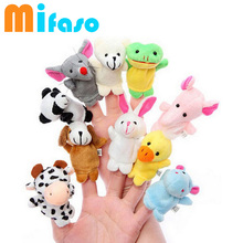 10 pcs/lot Baby Plush Toy finger Puppet toy Tell Story Props Animal Doll /Kids Toys /Children Gift Juguetes Bebe Toys(China (Mainland))