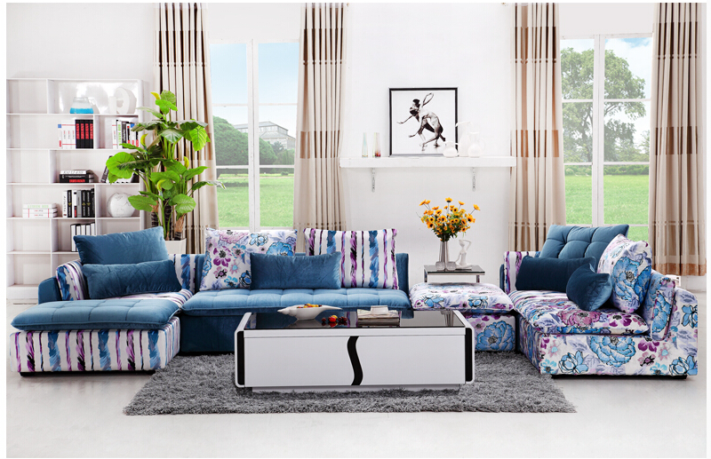 modern simple fashion fabric sofa large family living room furniture