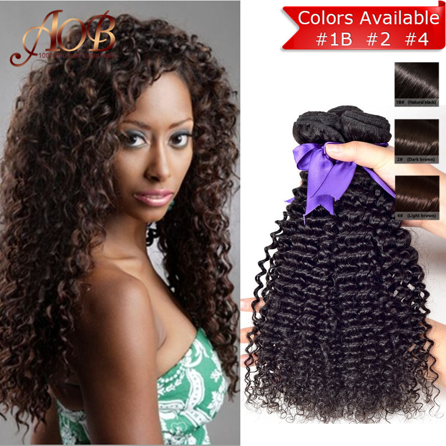 Brazilian Kinky Curly Virgin Hair 6A Brazilian Kinky Curly Hair Natural Color Virgin Brazilian Curly Hair Queen Hair Products