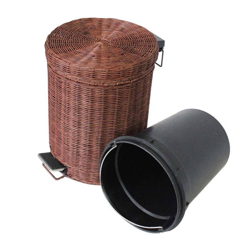 small bathroom wastebasket with lid evideco 6507183