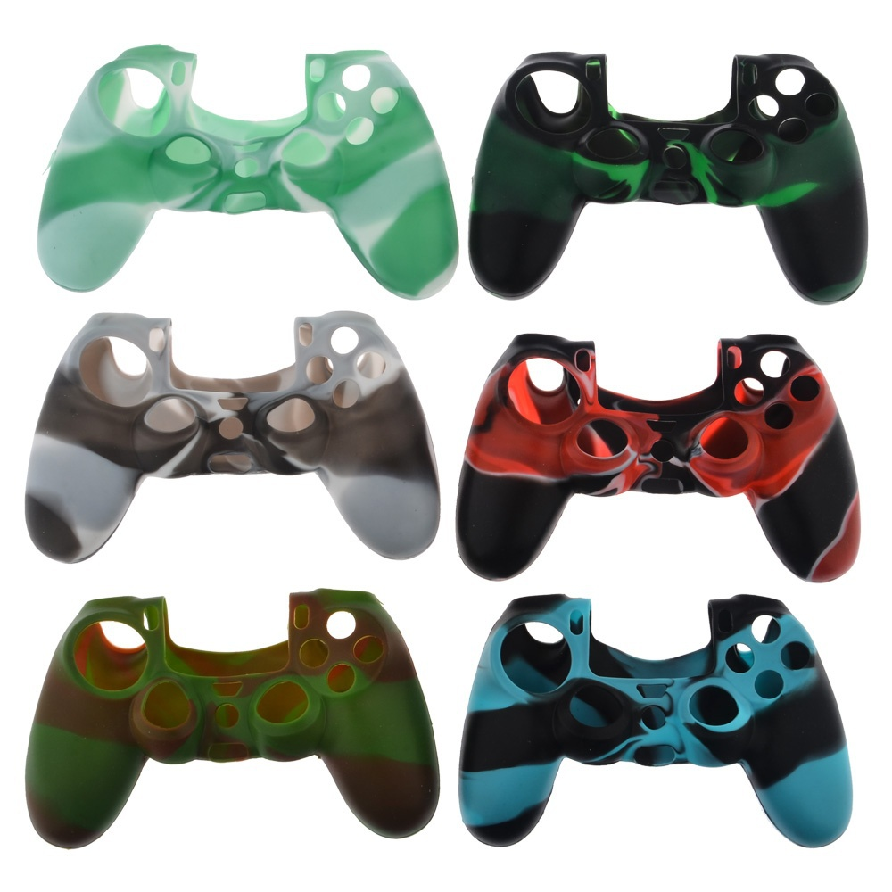 2015 New 6 Colors Camouflage Soft Silicone Cover Case Protection Skin for SONY playstation 4 PS4 Dualshock 4 Controller(China (Mainland))