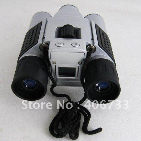 Free Shipping 3Mp max Mini Digital Binocular Camera + PC webcam Camera + Digital Video 4in1 DC-T01