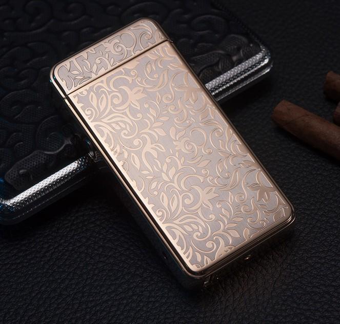 ถูก แปลกใหม่สร้างสรรค์ใหม่บุหรี่อิเล็กทรอนิกส์เบาชาร์จusbชีพจรarcโลหะไฟแช็
