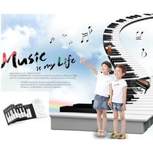 2015 New Portable Roll-Up 61 MIDI Soft Key Synthesizer 49 Key Keyboard Dampened Piano Folding Soft Silicone Electronic Piano(China (Mainland))