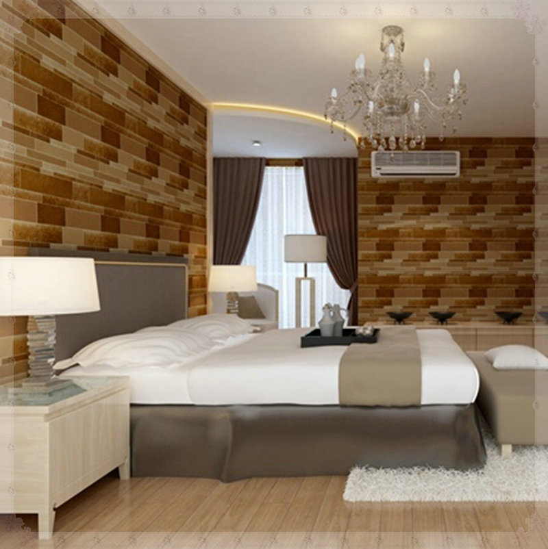 Eco friendly home decor wall papers korean style brick for Hotel room wall decor