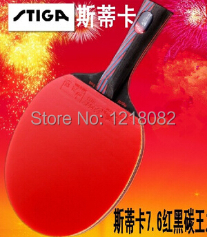 original STIGA carbon 7.6 Carbo 13 layers 7.6 WRB CR Table tennis rackets finished pingpong rackets two pimples in rubbers long(China (Mainland))