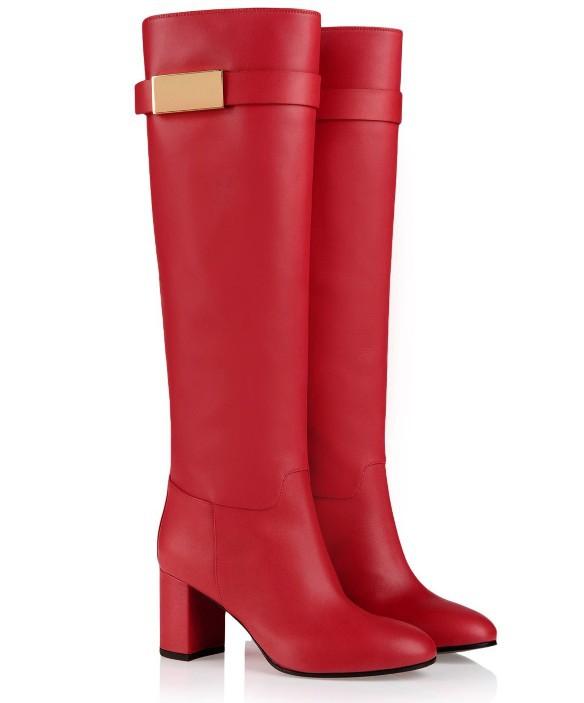 Creative  Red Shoes Woman Platform Suede Women Boots Wedding Shoesin Women39s