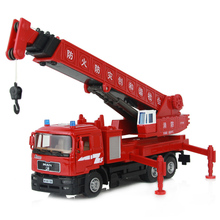 2013 kids alloy Toy fire truck crane giant crane car ,High-quality, high simulation , best gift for kids(China (Mainland))