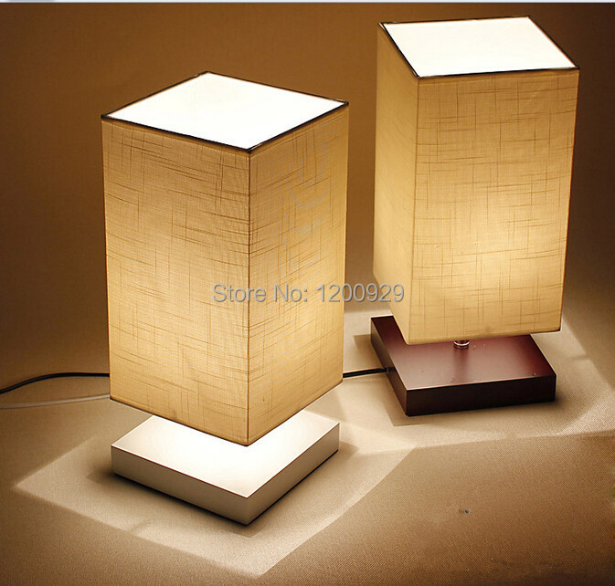 Modern Fabric  Lampshade WoodTable Lamp Country Style Home Decoration Creative Lighting Free Shipping  TLL-52<br><br>Aliexpress