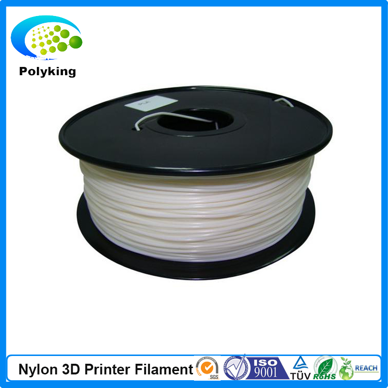 White color PA Nylon 3D printer filament 1 75mm 3 0mm 1kg 2 2lbs Consumable Material