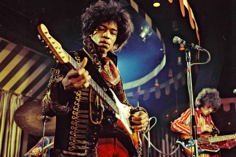Jimi Hendrix The best great Electric guitarists music poster Fabric silk poster printing great pictures on the wall 24x36inch(China (Mainland))