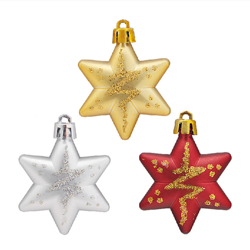 5 Stars/Package Hot Sale XMAS Topper Star Fancy Bling Christmas Tree Star Christmas Decoration Christmas Tree Ornaments(China (Mainland))