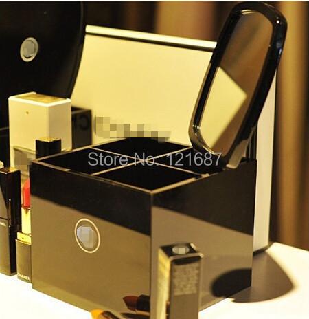 Fashion brand 4 grid dressing /Acrylic upscale atmosphere elegant Cosmetic box / cosmetic storage box tool box/jewelry box(China (Mainland))