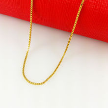 2014 New Fashion,Colorfast 45cm vacuum plated 24K Gold Necklace, gold box chain for women,Free Shipping,B004(China (Mainland))