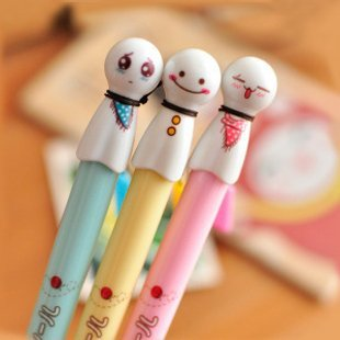 Free ship!40pc!Cute Sunny Doll tri-color ballpoint pen / student prizes