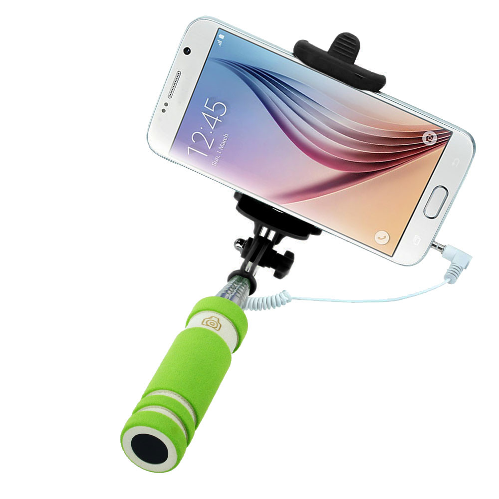 image for 4color Cheap Extendable Wired Selfie Stick To Selfi Monopod Palo Sopa