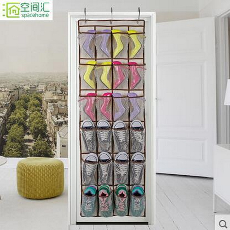 New Arrival! Pockets Oxford Receiving Shoes Bag Storage Saving Home Organizer Over Door Space(China (Mainland))