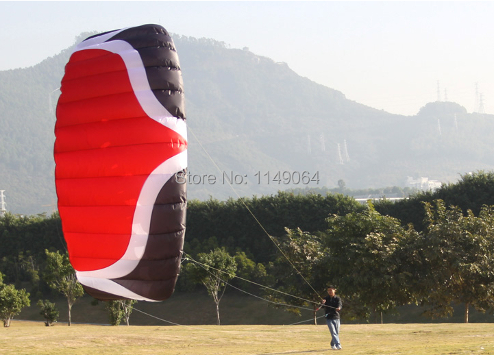 free shippingW5 5 square meter quad line power kite surf parachute paraglider pipa outdoor fun sports kite string factory whole(China (Mainland))