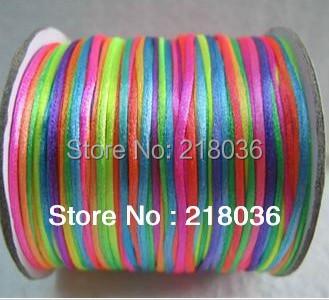 80M 2mm Nylon Cord Colorful Chinese Knot /Thread /Shamballa For Braided Bracelet Cord Fashion 2pcs DIY Jewelry Findings C097(China (Mainland))