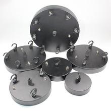 Black Diameter 8/10/12/15/18cm Pendant lamp Ceiling Plate lustres de teto Lighting Accessories For Rope Pendant Light(China (Mainland))