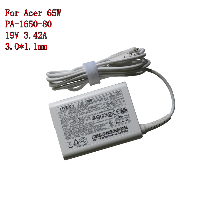 New Original For Acer Laptop Adapter LITEON 19V 342A 65W