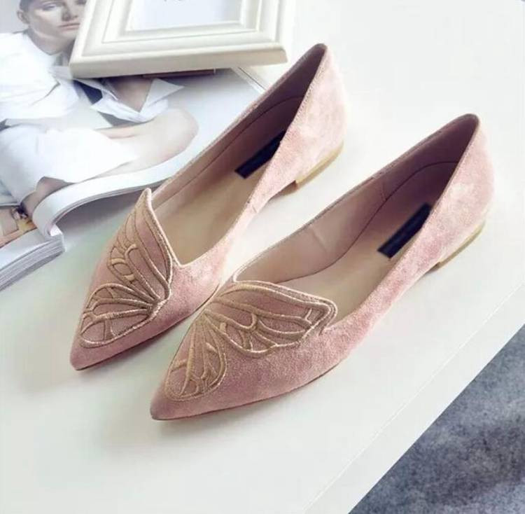 Fashion Butterfly Shoes Woman Flat Oxford Shoes For Women Black Pink Slip On Loafers Luxury Designer Shoes Ladies Flat Shoes (7)