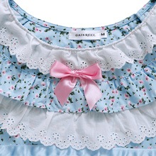 Song Riel autumn and winter sweet girl fresh printing of cotton pajamas home service package comfort