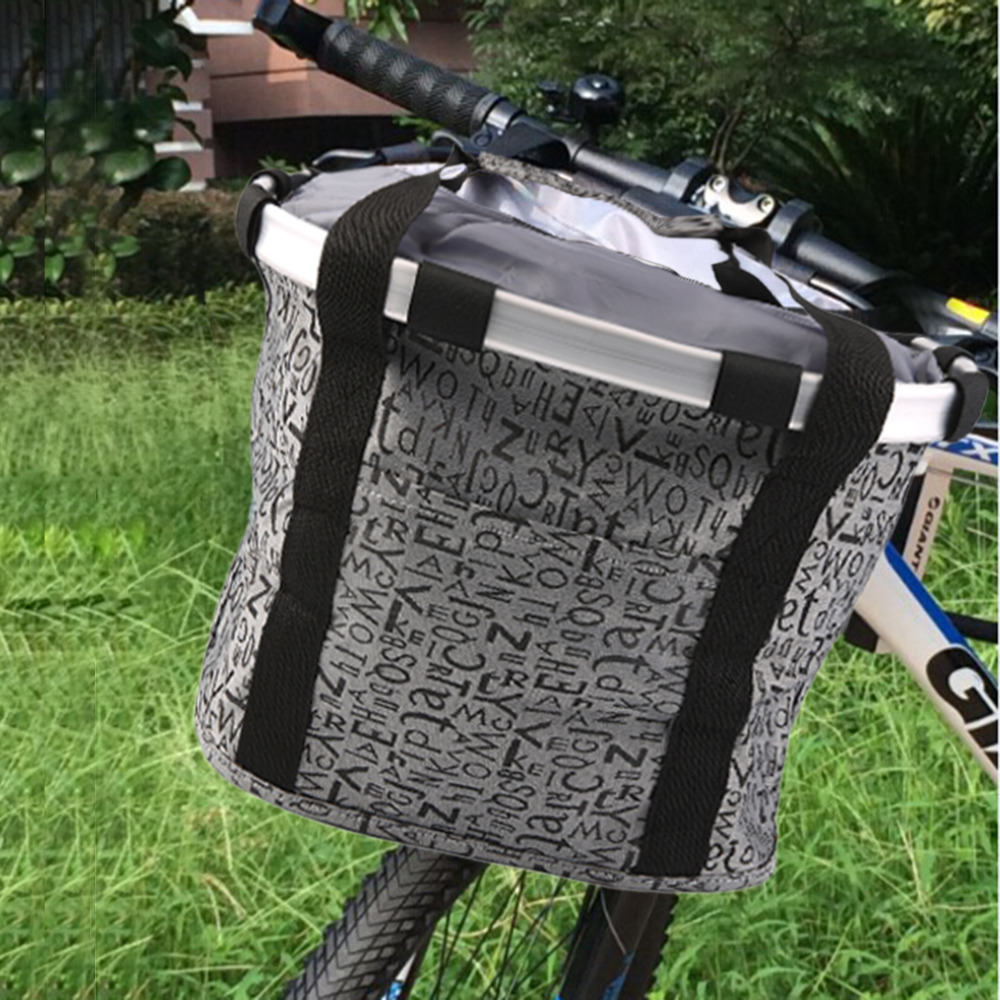 600D oxford cloth+Alumiun alloy Mountain Bike Basket Quick-disassembly Bicycle Pet Carrier Bag Bicycle Basket