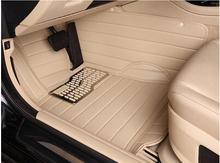 Best! Custom special floor mats for Toyota Land Cruiser Prado 5seats 2015 durable leather carpets for Prado 2014,Free shipping(China (Mainland))