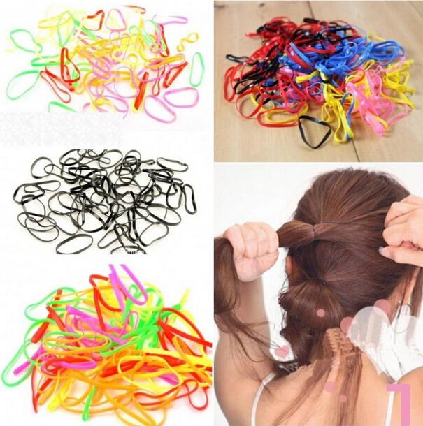 резиновые резинки для волос прически
