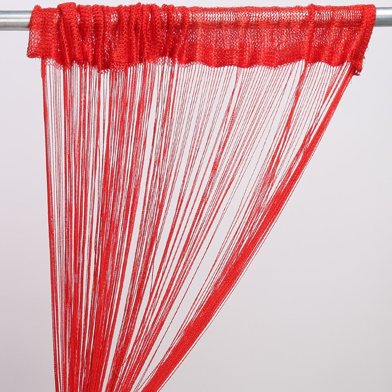 200x100cm 12 Colors Solid Color Polyester Tassel Drape Fringe String Curtain Panel Window Room Divider Creative Sweet Home(China (Mainland))