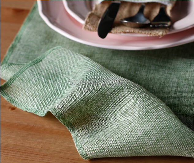 """Free Shipping 10pcs/lot 12"""" W x108"""" L Rustic Wedding Light Green Burlap Linen Table Runners For Wedding Party Table Decoration(China (Mainland))"""