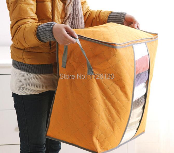 1X Modern Blue/Green/Orange Foldable Storage Stool Folding Storage Box Used Moisture&Dust-proof Reusable Box Bags Free Ship(China (Mainland))