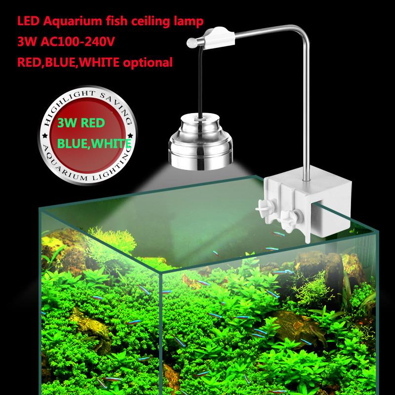 3W LED Aquarium Ceiling spot light Three grade white + red + blue light fish tank lamp AC110V -240V<br><br>Aliexpress