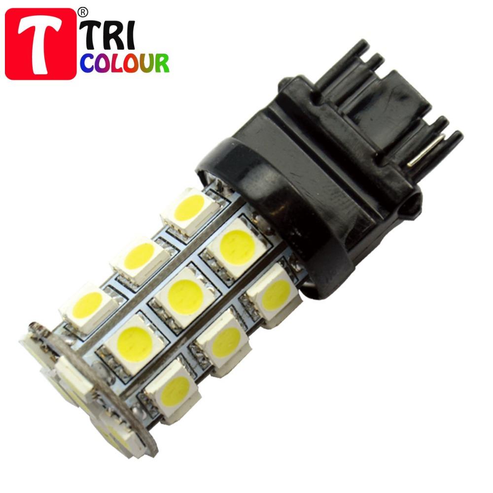 TRICOLOUR 2pcs T25 3156 3157 27smd 5050 LED Car Auto Stop Brake Turn signal Backup light bulb DC12V #LE05(China (Mainland))