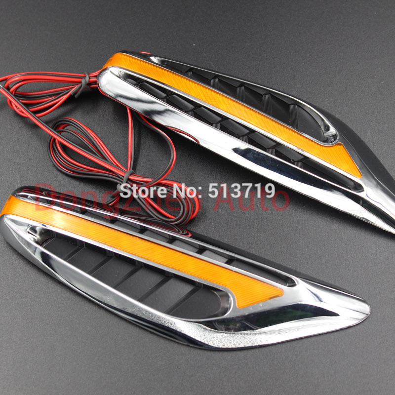 Universal steering light Fender Side Lamp Auto Car LED Side Lights Marker Turn signal Lights Amber Free shipping Drop shipping<br><br>Aliexpress