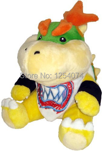 """Free Shipping Cute! Official Nintendo Super Mario Plush Series Stuffed Toy - 7"""" Bowser Jr. (Japanese Import)(China (Mainland))"""