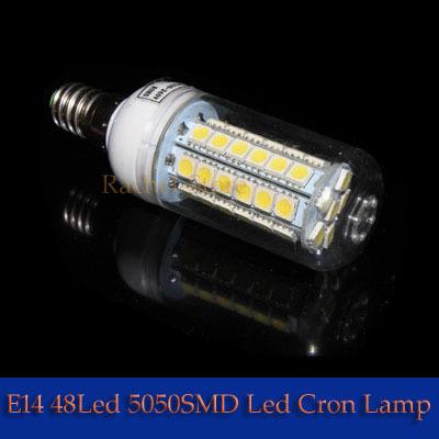 5PCS E14  7W SMD5050  48LEDS 800LM 220-240V Cool White/Warm White 48pcs LEDs Corn Light--------------Limited Time Offer
