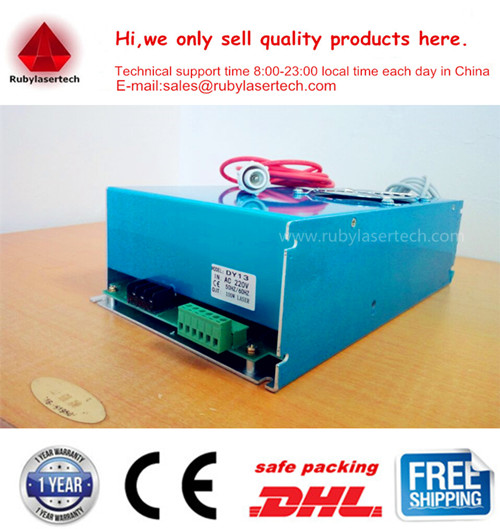 110-220vac input 0-5v or pwm signal 100W Reci Power Supply DY13 for reci w4 Co2 laser tube warranty 12 monthes DHL fast shipping(China (Mainland))