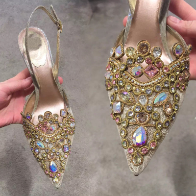 2016 New Fashion Sexy Women Rhinestone Wedding Shoes Luxury Brand Platform Pumps Red Bottom High Heels Crystal Shoes Party Shoes(China (Mainland))