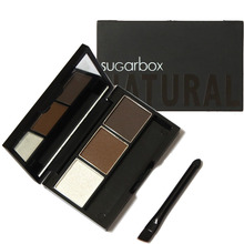 Sugar Box Brand Professional Waterproof Eyebrow Powder Palette 3 Colors Natural Eye Brow Makeup Cosmetics KJDSB001(China (Mainland))