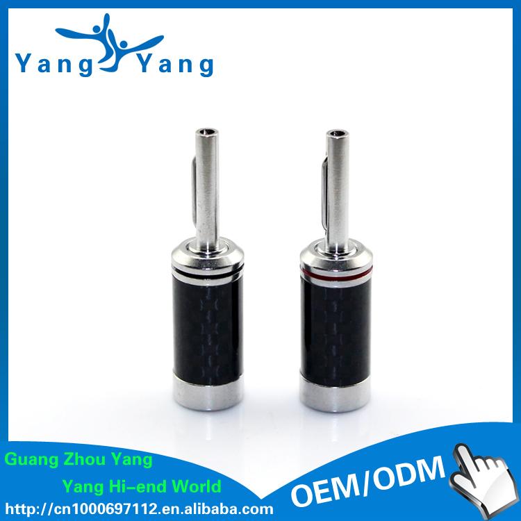 Здесь можно купить  YangYang Brand  carbon fiber rhodium plated  banana plug  Электротехническое оборудование и материалы
